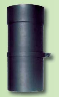 tubo per stufe a legna telescopico 500 mm in acciaio al carbonio 10011